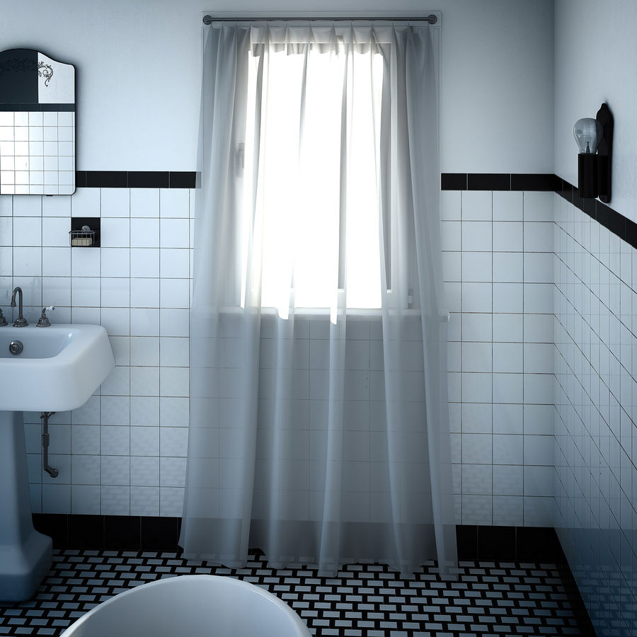 Weißes Fenster mit Vorhängen 3D-Modell $29 - .max .obj .fbx ...