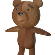 orsacchiotto di peluche 3d model