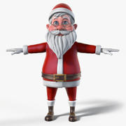 de kerstman 3d model