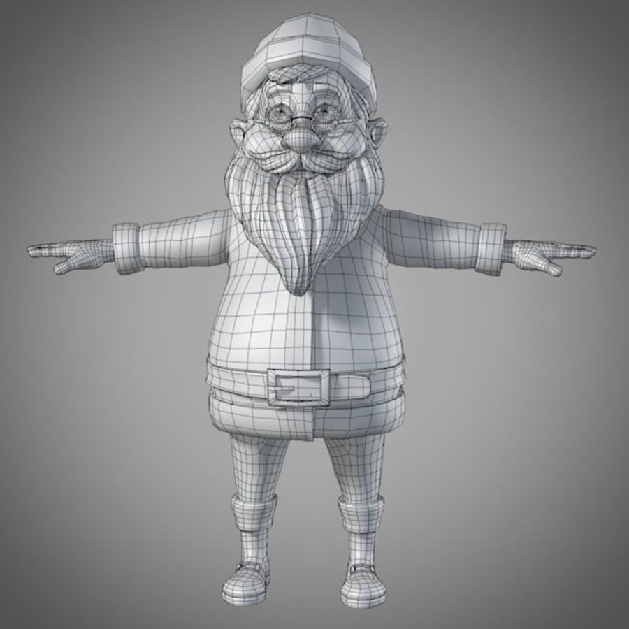 サンタ royalty-free 3d model - Preview no. 11