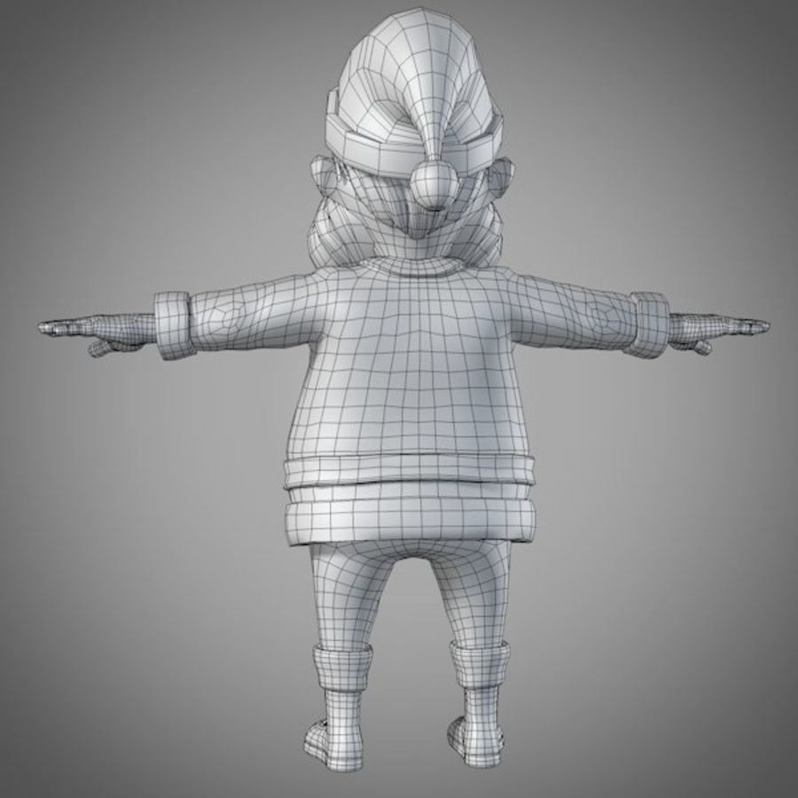 サンタ royalty-free 3d model - Preview no. 13