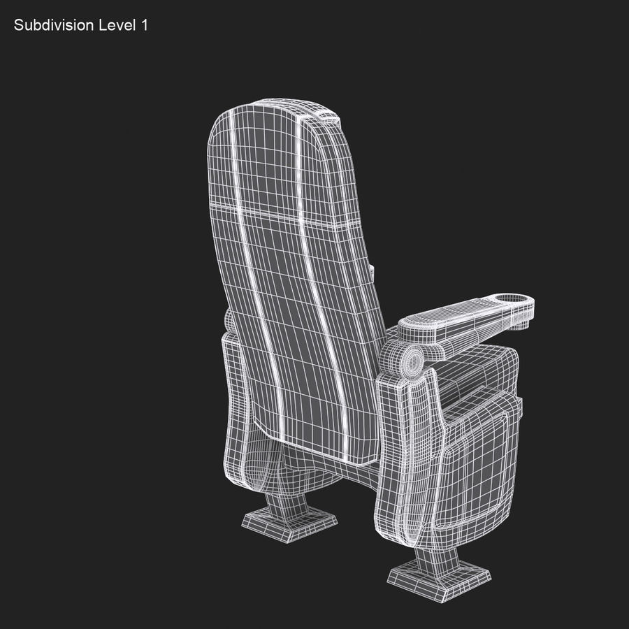 Cinema Seat royalty-free 3d model - Preview no. 14