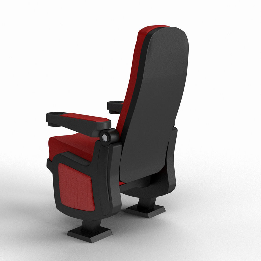 Cinema Seat royalty-free 3d model - Preview no. 7