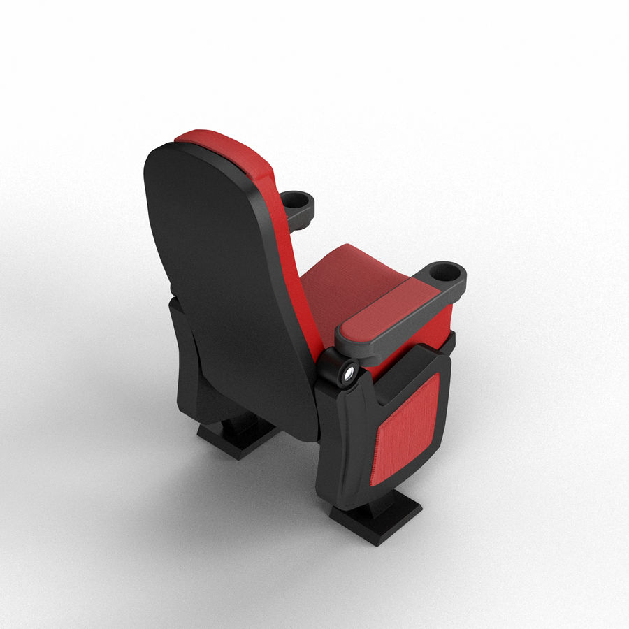 Cinema Seat royalty-free 3d model - Preview no. 6