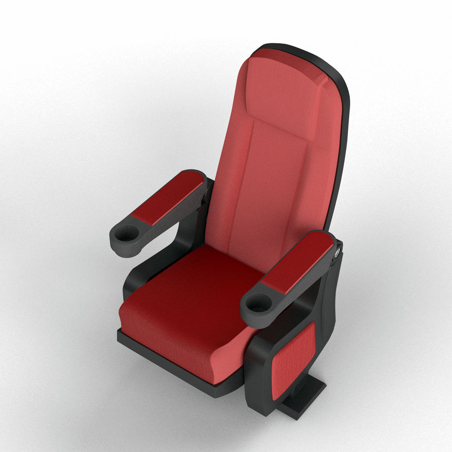 Cinema Seat royalty-free 3d model - Preview no. 2