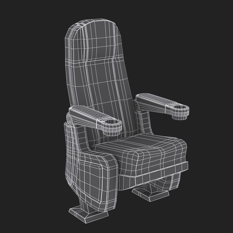Cinema Seat royalty-free 3d model - Preview no. 9