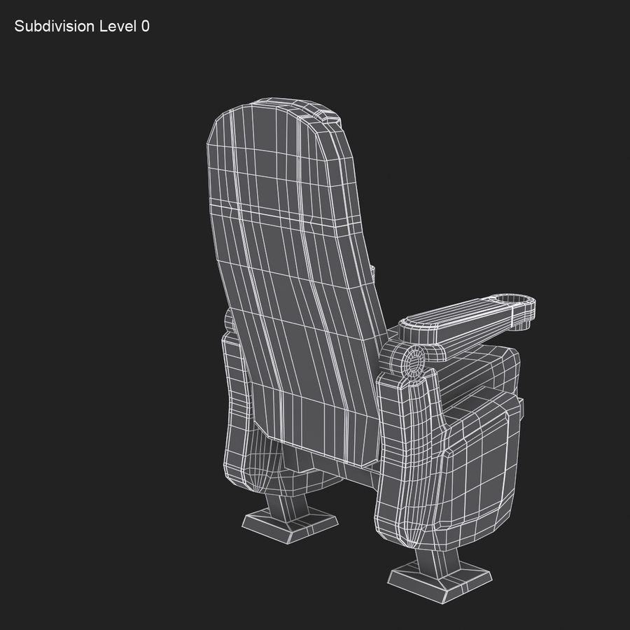 Cinema Seat royalty-free 3d model - Preview no. 13