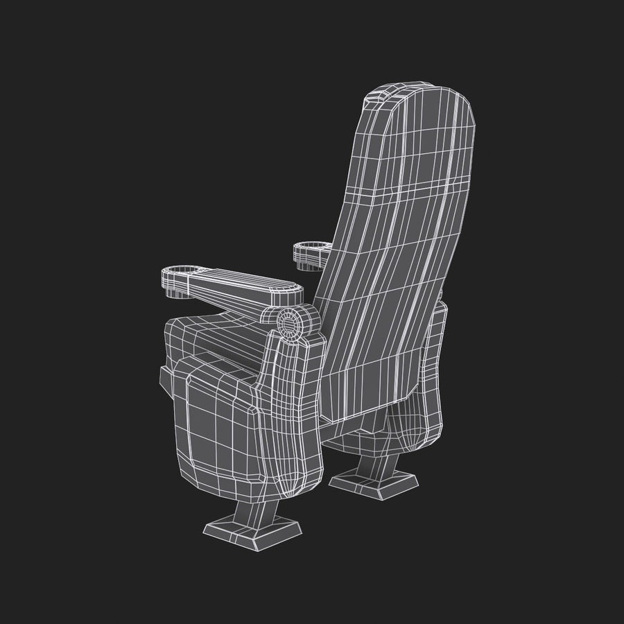 Cinema Seat royalty-free 3d model - Preview no. 10