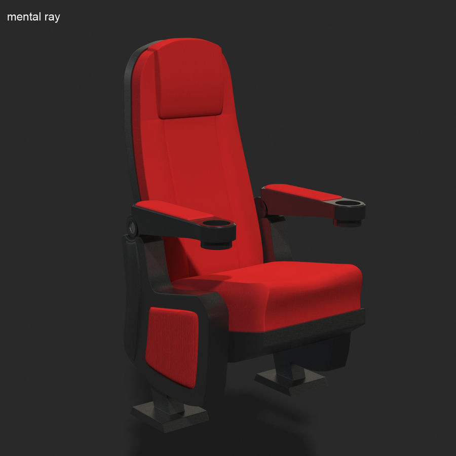 Cinema Seat royalty-free 3d model - Preview no. 8