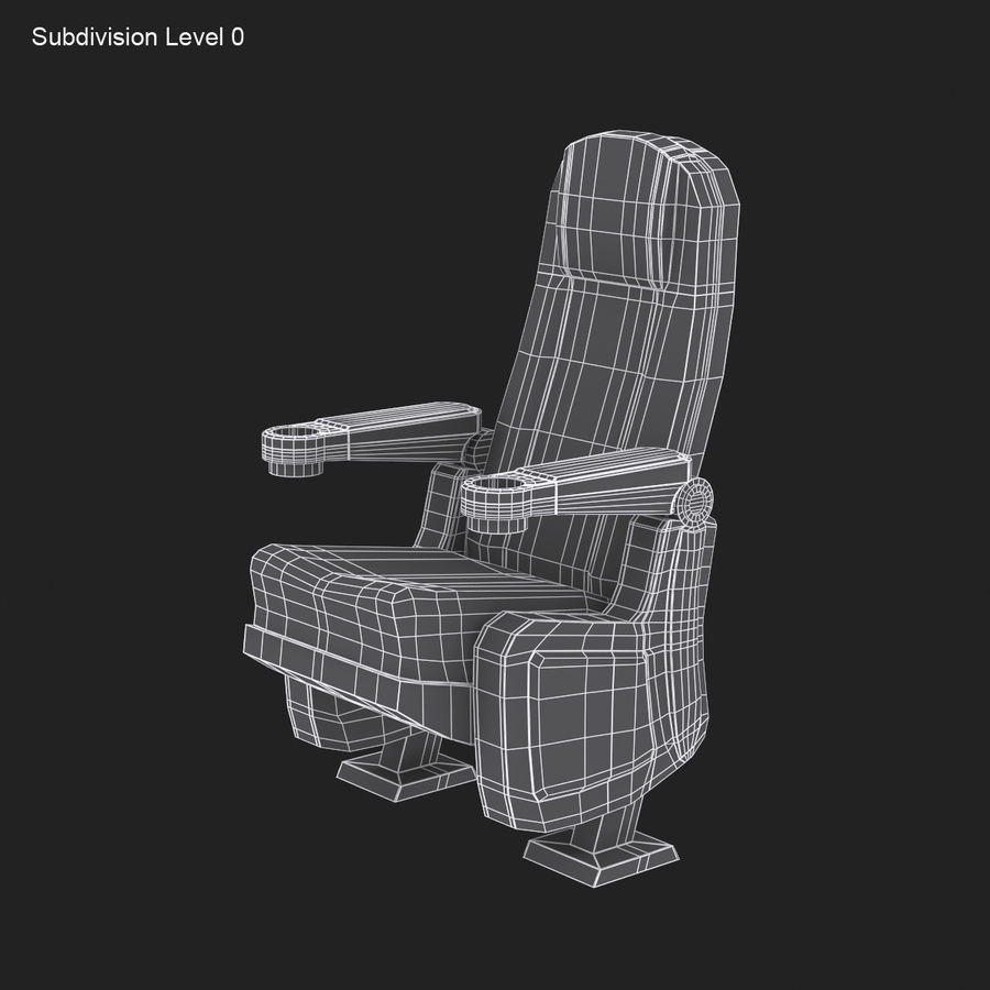 Cinema Seat royalty-free 3d model - Preview no. 11
