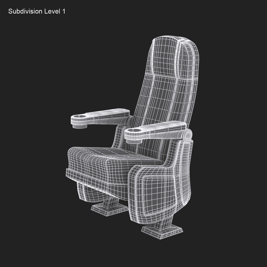 Cinema Seat royalty-free 3d model - Preview no. 12