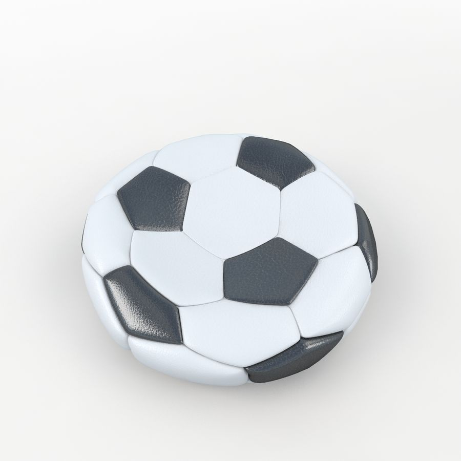 Plano de futbol royalty-free modelo 3d - Preview no. 3