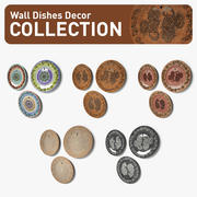 Wall Dish Decor Collection 3d model