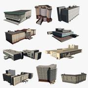 10 case a basso contenuto di poli 01 3d model