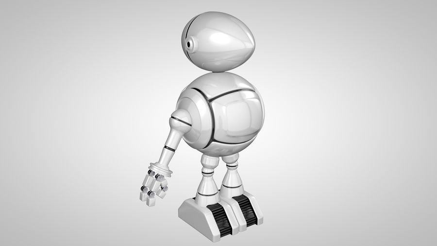 Cartoon Robot royalty-free 3d model - Preview no. 9