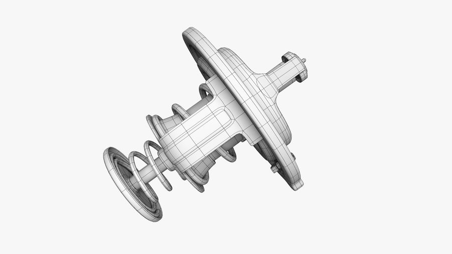 Termostato motore auto royalty-free 3d model - Preview no. 16