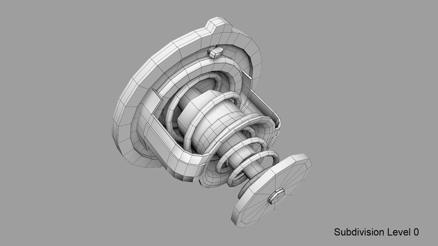 Termostato motore auto royalty-free 3d model - Preview no. 22