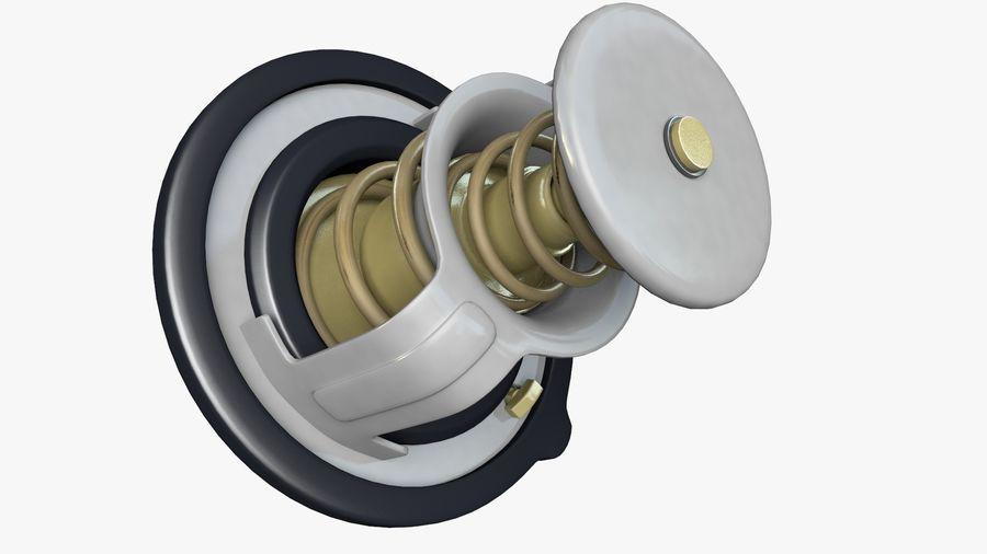 Termostato motore auto royalty-free 3d model - Preview no. 8
