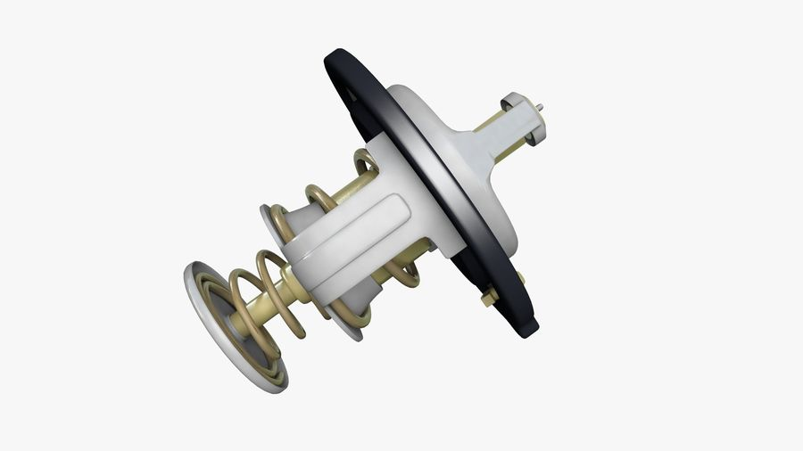 Termostato motore auto royalty-free 3d model - Preview no. 7