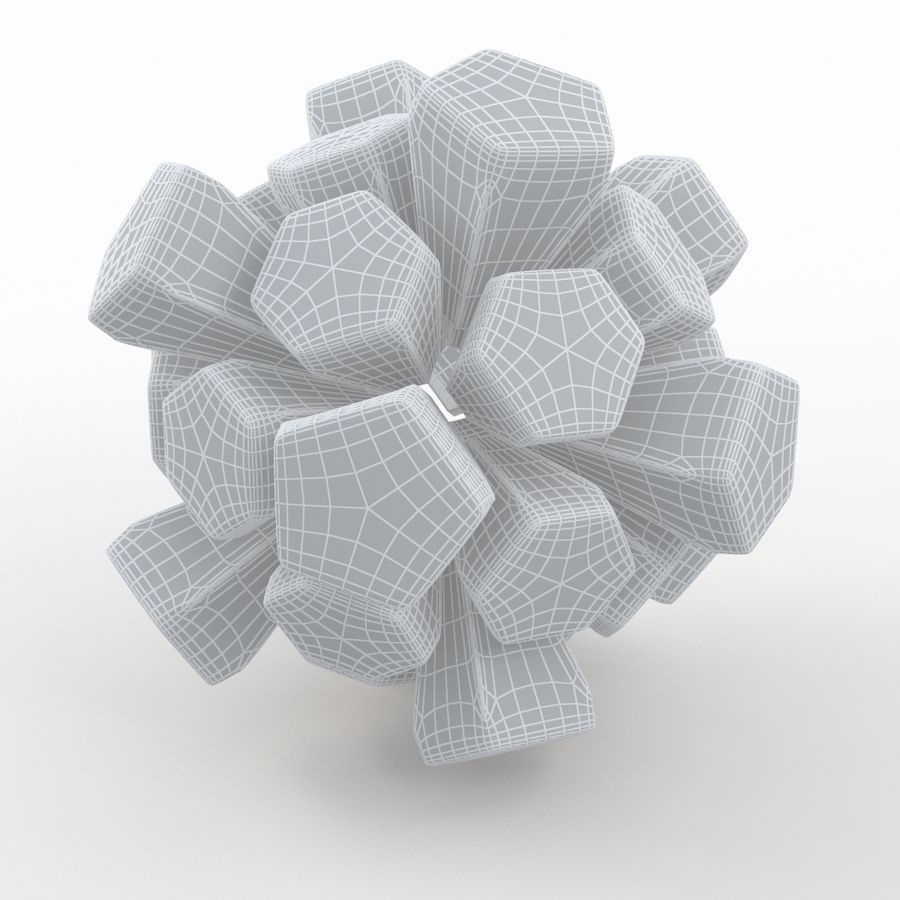 Soccerball exploser royalty-free 3d model - Preview no. 7