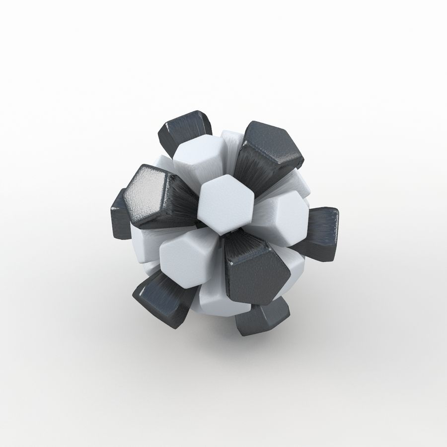 Soccerball exploser royalty-free 3d model - Preview no. 1