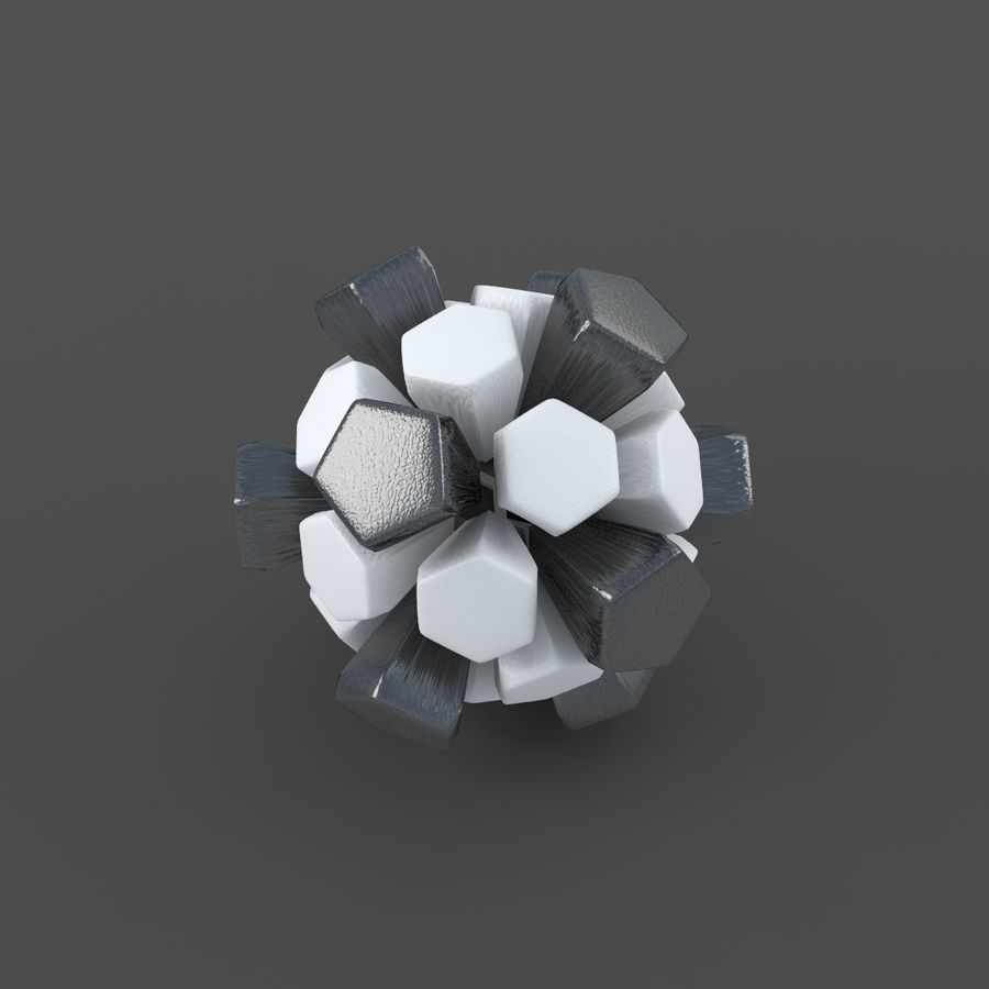 Soccerball exploser royalty-free 3d model - Preview no. 2