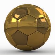 Soccerball SuperHighPoly金色 3d model