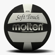 Molten Soft Touch Volleyball Black 3d model