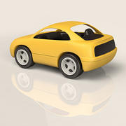 Plastic Toy Car 3d model