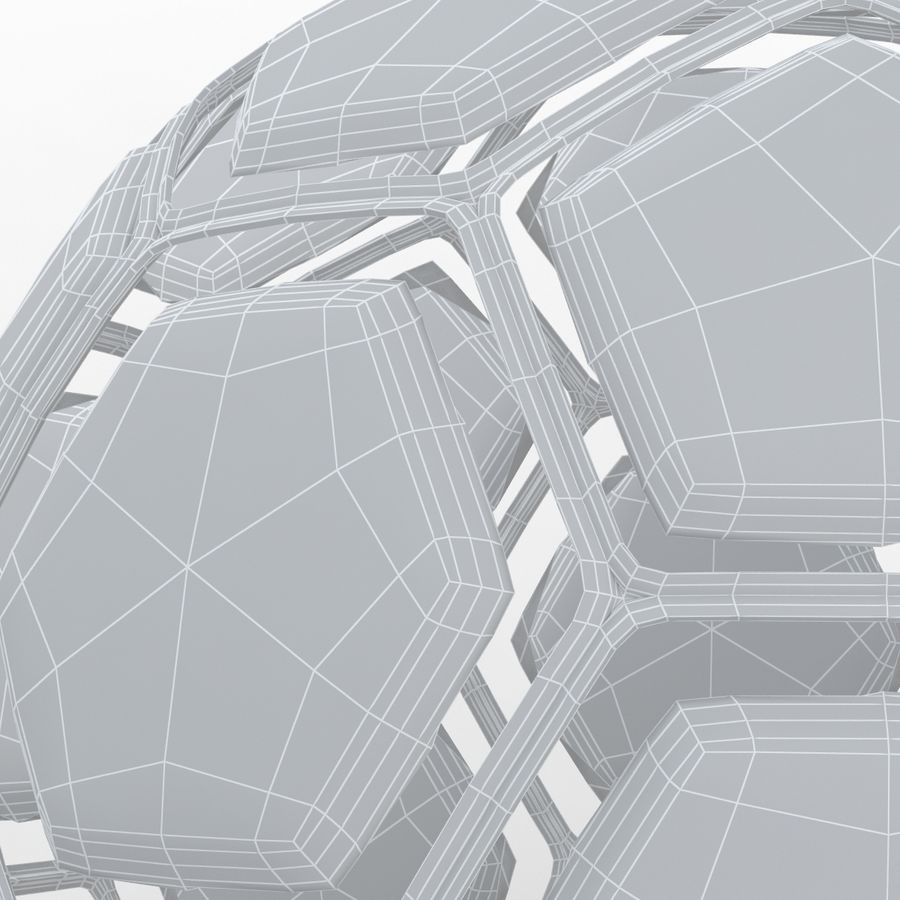 Soccerball dissasembled royalty-free 3d model - Preview no. 9
