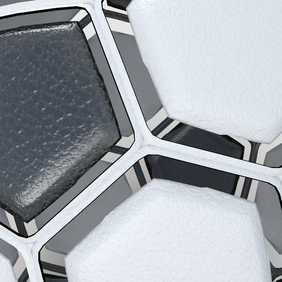 Soccerball dissasembled royalty-free 3d model - Preview no. 4