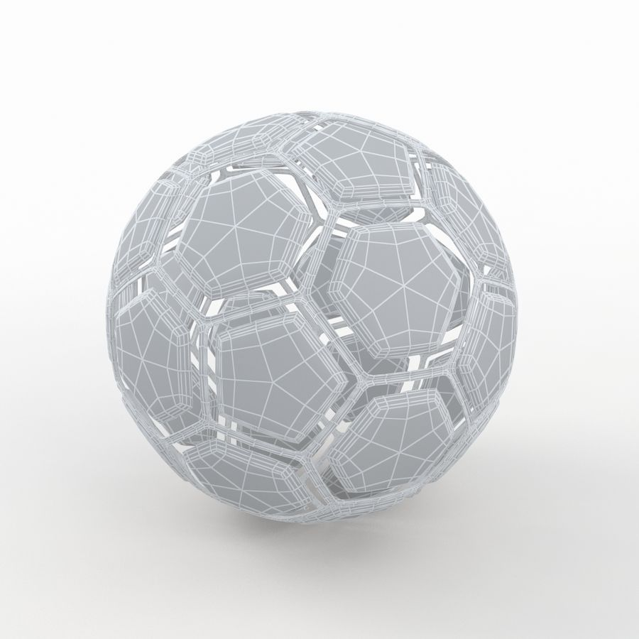 Soccerball dissasembled royalty-free 3d model - Preview no. 7