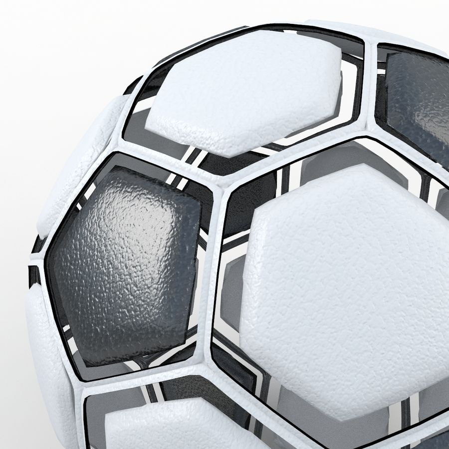 Soccerball dissasembled royalty-free 3d model - Preview no. 3