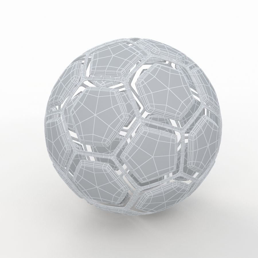 Soccerball dissasembled royalty-free 3d model - Preview no. 8