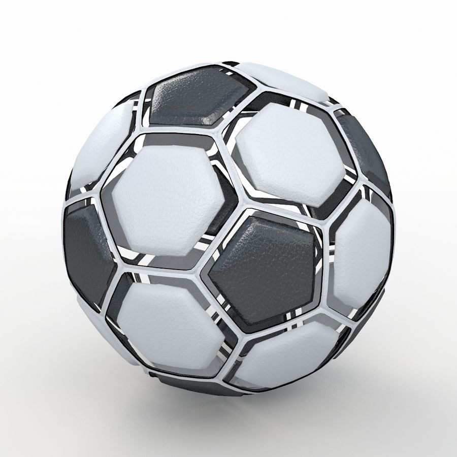 Soccerball dissasembled royalty-free 3d model - Preview no. 1