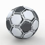 Soccerball dissasembled 3d model