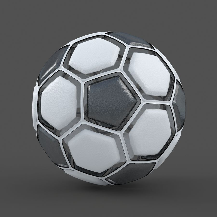 Soccerball dissasembled royalty-free 3d model - Preview no. 2
