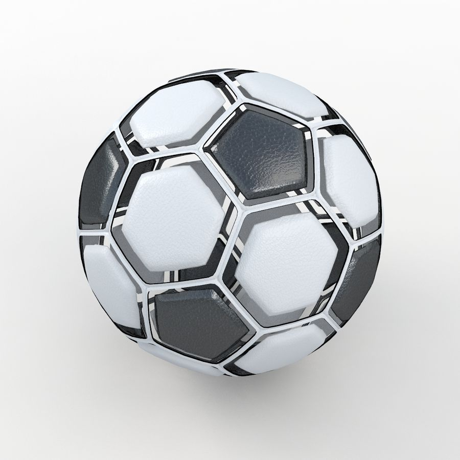 Soccerball dissasembled royalty-free 3d model - Preview no. 5
