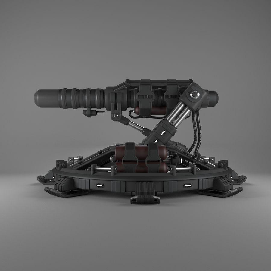 Canhão royalty-free 3d model - Preview no. 4