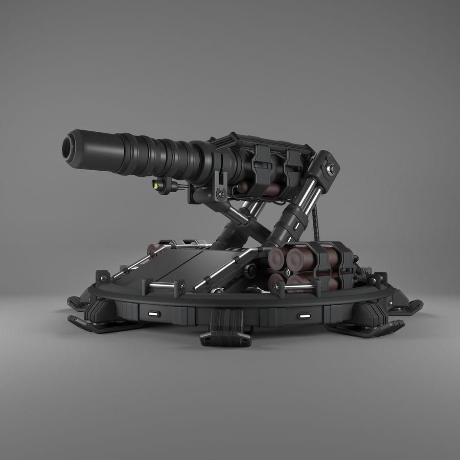 Canhão royalty-free 3d model - Preview no. 1