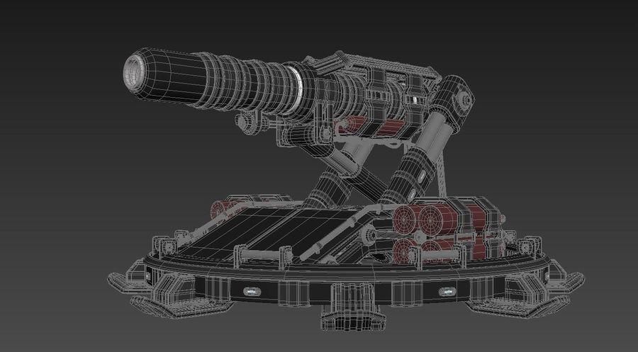 Canhão royalty-free 3d model - Preview no. 7