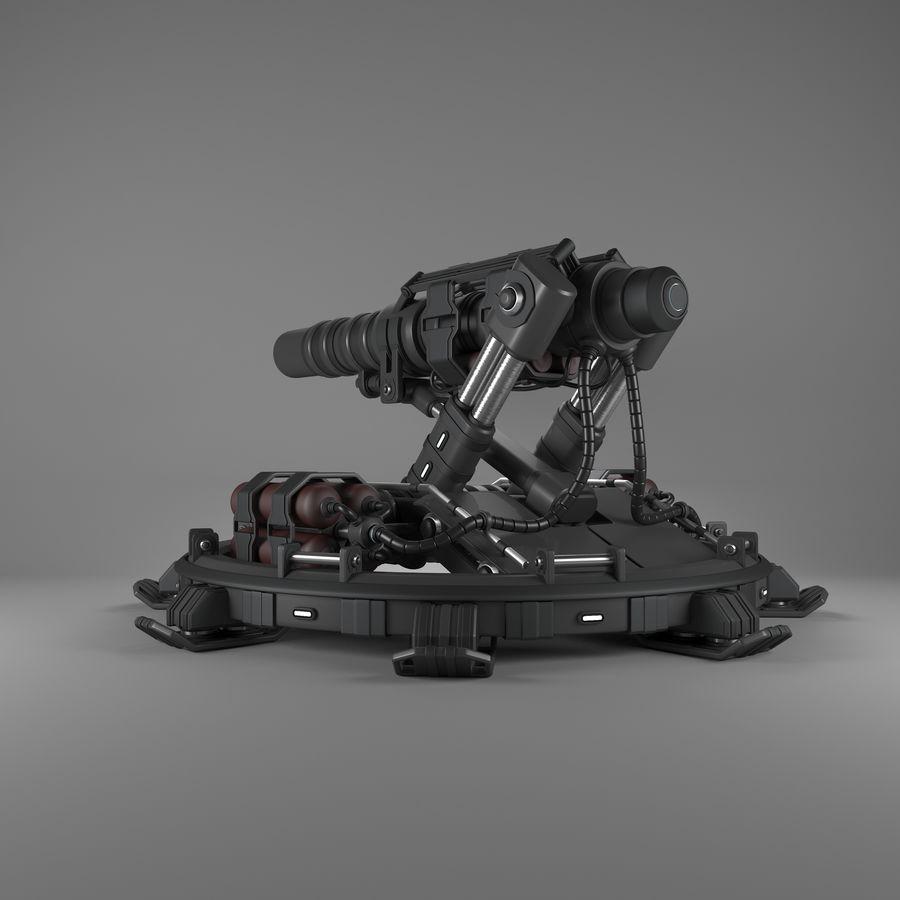 Canhão royalty-free 3d model - Preview no. 2