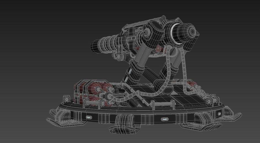 Canhão royalty-free 3d model - Preview no. 8