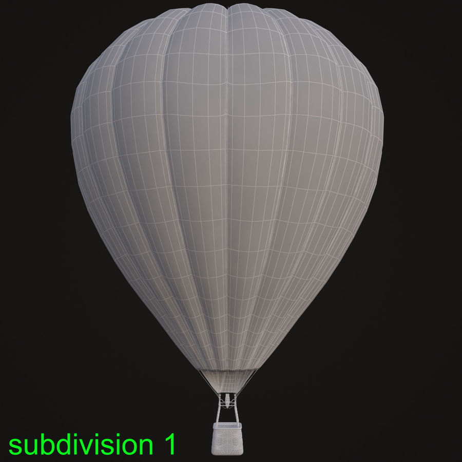 Luchtballon royalty-free 3d model - Preview no. 14