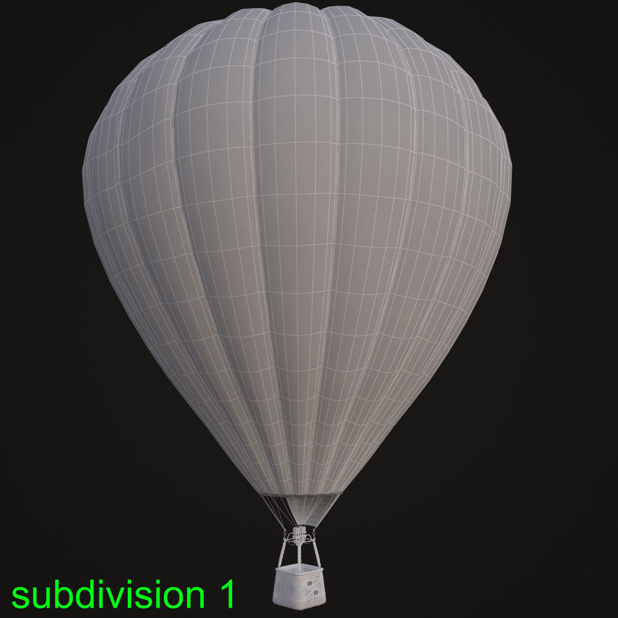Luchtballon royalty-free 3d model - Preview no. 13