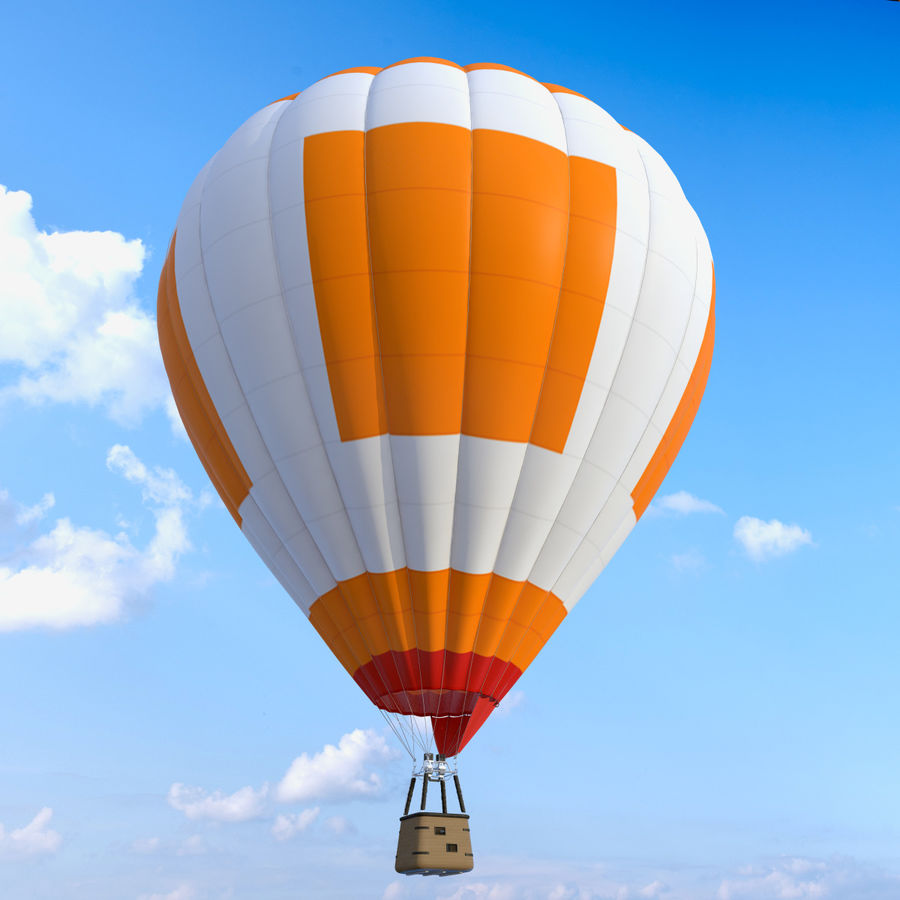 Luchtballon royalty-free 3d model - Preview no. 6