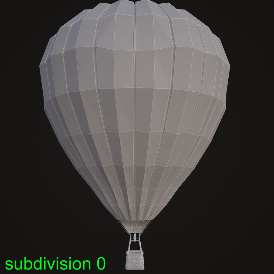 Luchtballon royalty-free 3d model - Preview no. 11