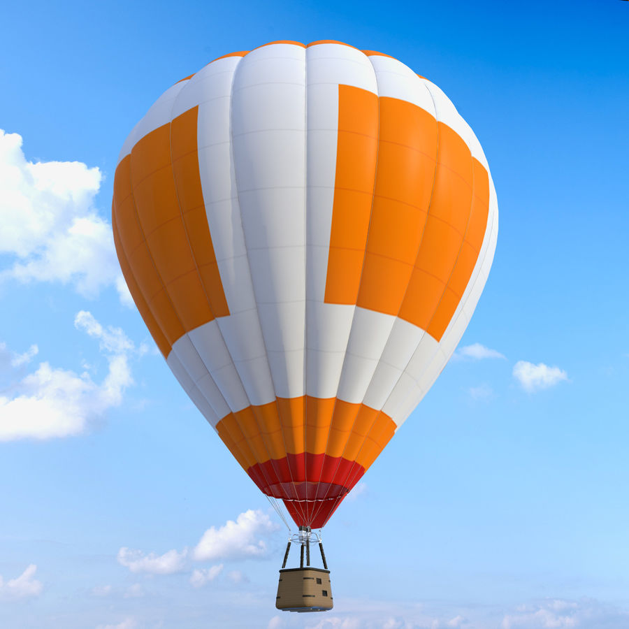 Luchtballon royalty-free 3d model - Preview no. 4