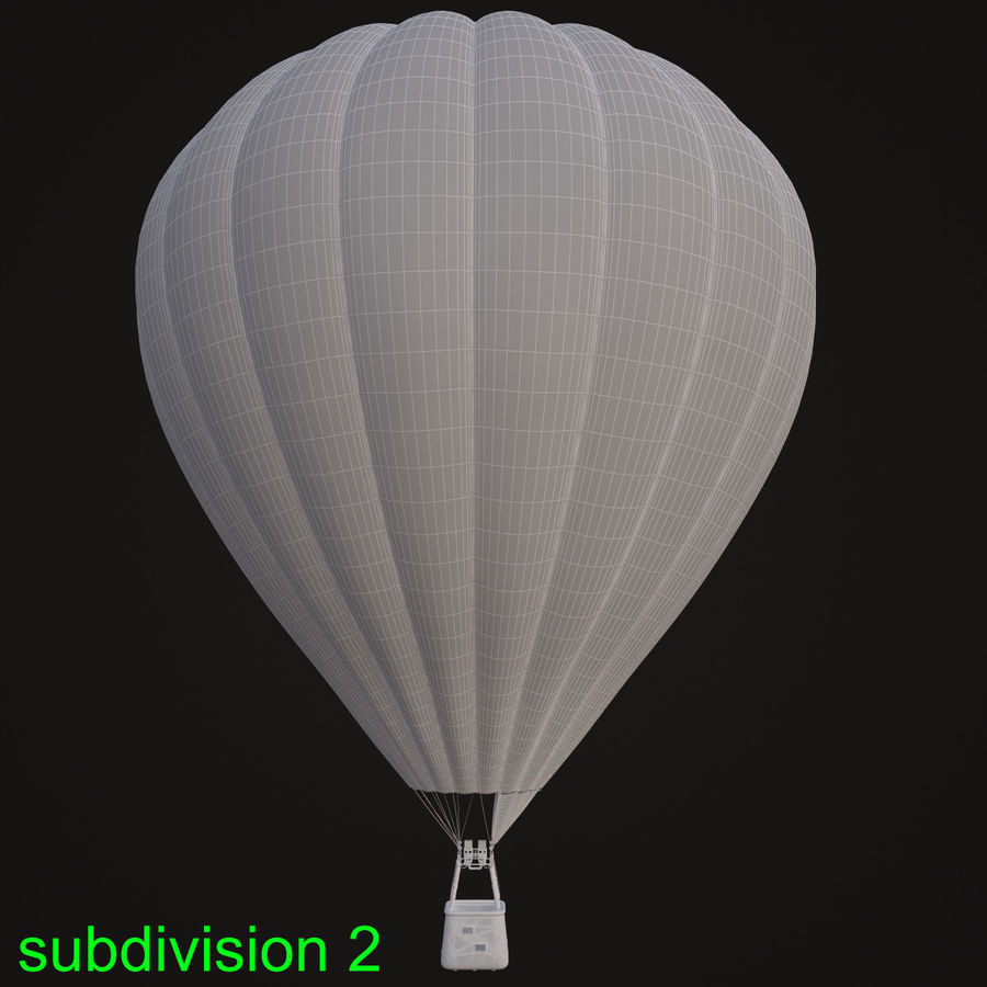 Luchtballon royalty-free 3d model - Preview no. 17