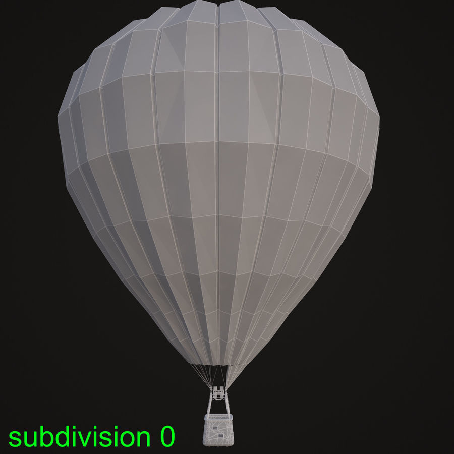 Luchtballon royalty-free 3d model - Preview no. 9
